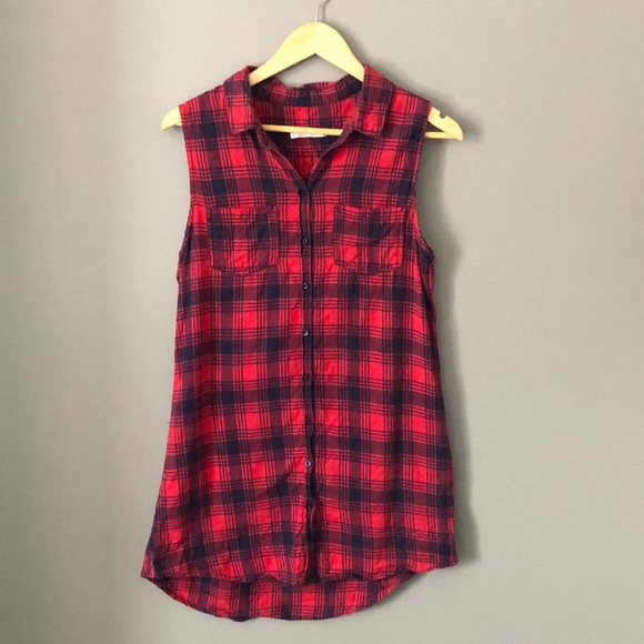 Plaid Sleeveless